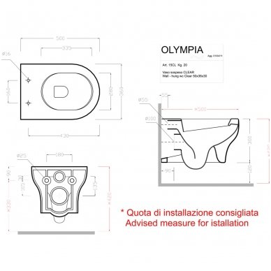Grohe potinkinio rėmo su Olympia wc komplektas 2