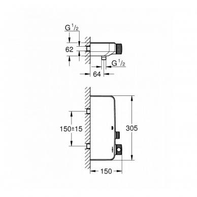 Grohe SmartControl termostatinis dušo maišytuvas 34719000 4