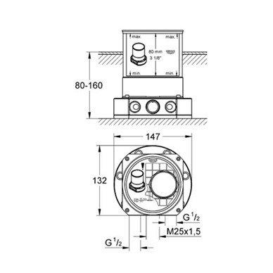 Grohe Veris vonios maišytuvas iš grindų 8