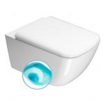 GSI SAND SWIRLFLUSH pakabinamas tualetas su lėtaeigiu dangčiu