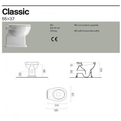 GSI Classic pastatomas klozetas su pusiniu vamzdžiu 3