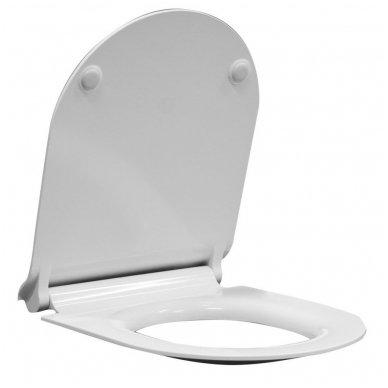 GSI KUBE SWIRLFLUSH Sieninis pakabinamas tualetas  su lėtaeigiu dangčiu 3