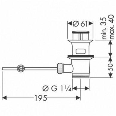 Hansgrohe maišytuvas praustuvui su dušeliu ir ventiliu Talis S chromas 3