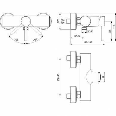 Ideal Standard Ceraline dušo maišytuvas 3