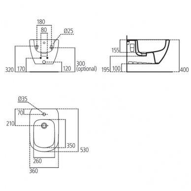Ideal Standard Tesi pakabinama bidė T355201 4