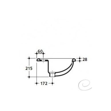 Įleidžiamas praustuvas Kerasan Godia 58,5x45cm 3
