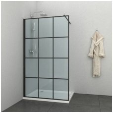 Juoda dušo sienelė SOHO 120cm