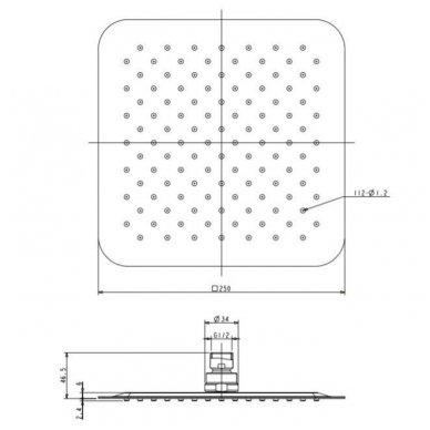 Juoda potinkinė dušo sistema Omnires SYSBA10 4