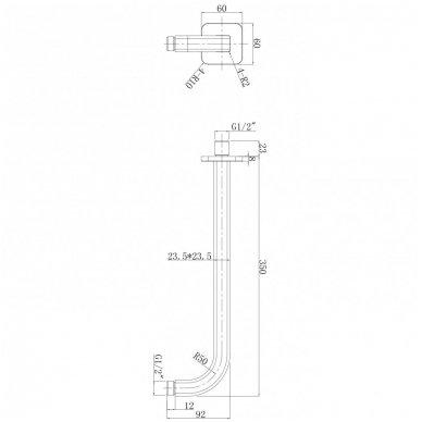Juoda potinkinė dušo sistema Omnires SYSPM10 BL 3