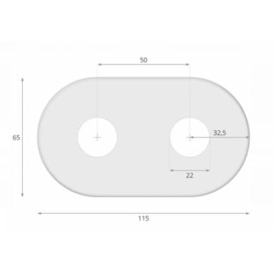 Juodas kampinio termostato VARIO TERM Unico komplektas su jungtimis ir pilna apdaila 5