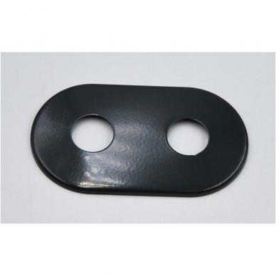 Juodas kampinio termostato VARIO TERM Unico komplektas su jungtimis ir pilna apdaila 6