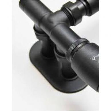 Juodas kampinio termostato VARIO TERM Unico komplektas su jungtimis ir pilna apdaila 2