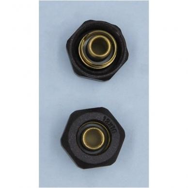 Juodas kampinio termostato VARIO TERM Unico komplektas su jungtimis ir pilna apdaila 8
