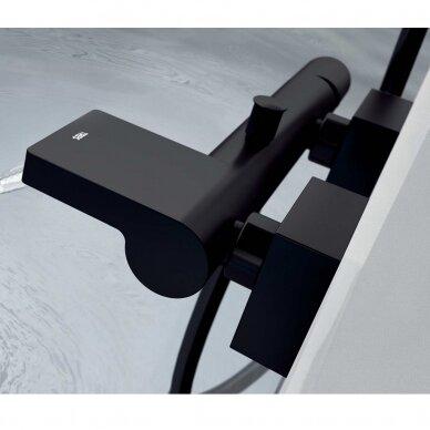 Juodas vonios maišytuvas Tres Project 21117001NM