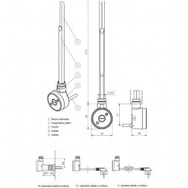 Kaitinimo elementas (tenas) TERMA Dry 6