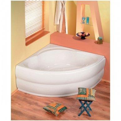 Kampinė vonia ALEXANDRA 140x140x42cm Akrilinė 05111 2