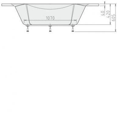 Kampinė vonia ALEXANDRA 140x140x42cm Akrilinė 05111 3