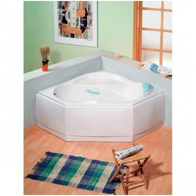 Kampinė vonia LIDIE 140x140x45cm Akrilinė 07111 2