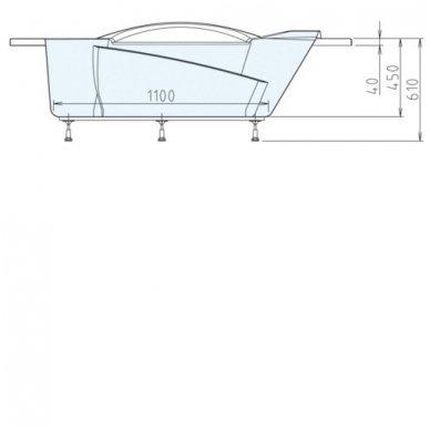 Kampinė vonia LIDIE 140x140x45cm Akrilinė 07111 7