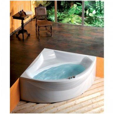 Kampinė vonia ROSANA 140x140x49cm Akrilinė 64119 2