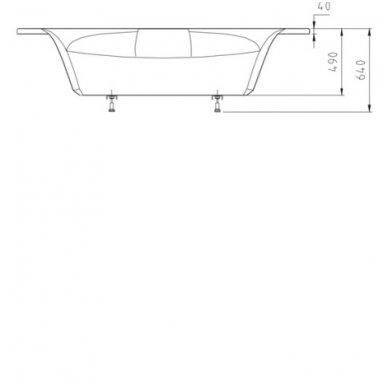 Kampinė vonia ROSANA 140x140x49cm Akrilinė 64119 4