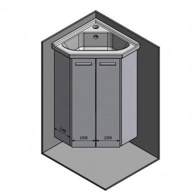 Kampinė vonios spintelė Zoja  41x41x74cm 4