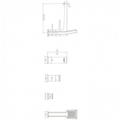 Keturių dalių vonios maišytuvas Omnires Parma PM7432 CR 2