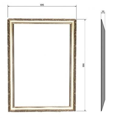 Klasikinio stiliaus veidrodis Bohemia 3