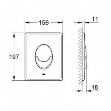 Komplektas potinkinio WC rėmo Rapid SL 4in1 ir pakabinamo klozeto BRILLA Rimless su Slim lėtaeigiu dangčiu 5