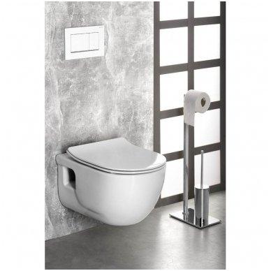 Komplektas potinkinio WC rėmo Rapid SL 4in1 ir pakabinamo klozeto BRILLA Rimless su Slim lėtaeigiu dangčiu 9