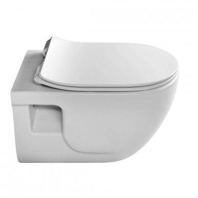 Komplektas potinkinio WC rėmo Rapid SL 4in1 ir pakabinamo klozeto BRILLA Rimless su Slim lėtaeigiu dangčiu 10