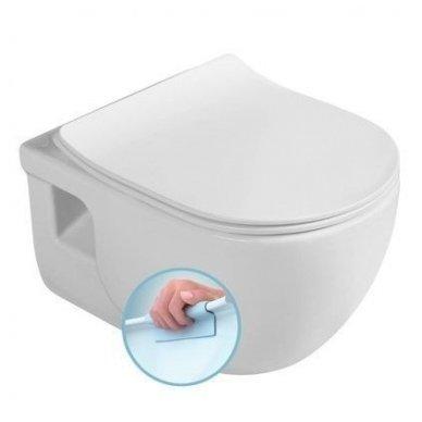 Komplektas potinkinio WC rėmo Rapid SL 4in1 ir pakabinamo klozeto BRILLA Rimless su Slim lėtaeigiu dangčiu 7
