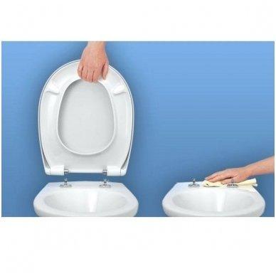 Komplektas potinkinio WC rėmo Rapid SL 4in1 ir pakabinamo klozeto Creavit Paula su lėtaeigiu SLIM dangčiu 7