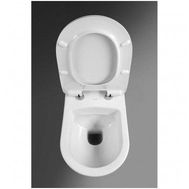 Komplektas potinkinio WC rėmo Rapid SL 4in1 ir pakabinamo klozeto Creavit Paula su lėtaeigiu SLIM dangčiu 8