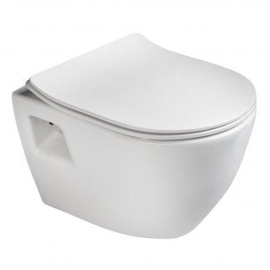Komplektas potinkinio WC rėmo Rapid SL 4in1 ir pakabinamo klozeto Creavit Paula su lėtaeigiu SLIM dangčiu 6