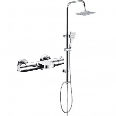 Termostatinis vonios maišytuvas Kimura su Deante Floks dušo stovu