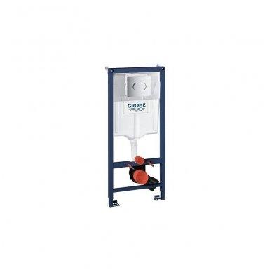 Komplektas WC rėmo Grohe Rapid SL 38981000 ir pakabinamo klozeto BRILLA Rimless su Slim lėtaeigiu dangčiu 3