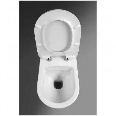 Komplektas WC rėmo Grohe Rapid SL 38981000 ir pakabinamo klozeto Creavit Paula su lėtaeigiu SLIM dangčiu 6