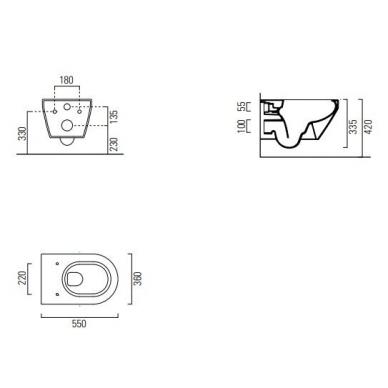 Komplektas WERIT potinkinis rėmas su mygtuku ir GSI KUBE SWIRLFLUSH klozetas su lėtaeigiu dangčiu 10