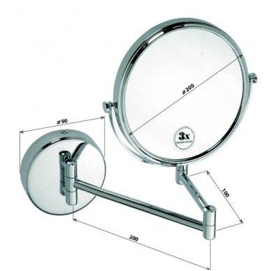 Kosmetinis veidrodis Sapho Omega  2