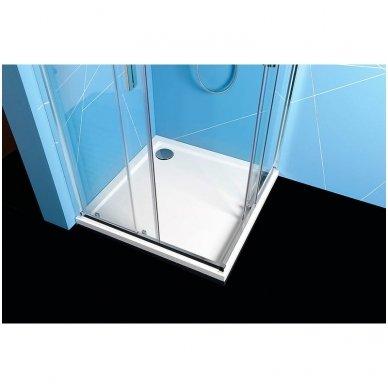 Kvadratinė Polysan Easy Line dušo kabina 4