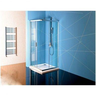 Kvadratinė Polysan Easy Line dušo kabina 2