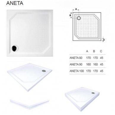 Kvadratinis dušo padėklas Gelco Aneta 4