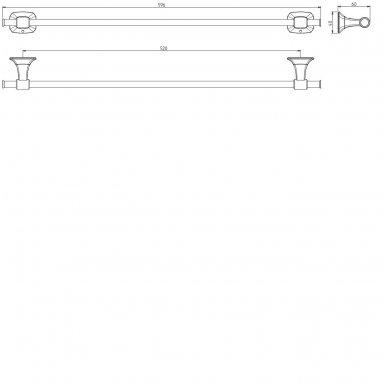 Laikiklis 52cm AIDA AI520 2