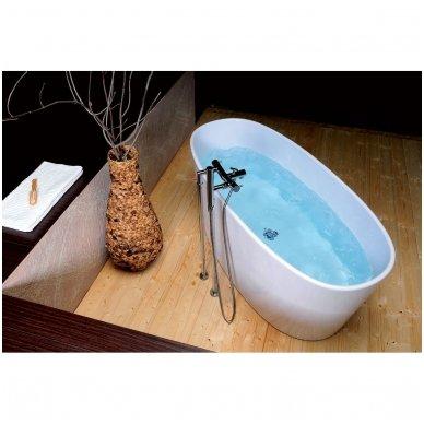 Laisvai pastatoma lieto akmens vonia Polysan Tess 8