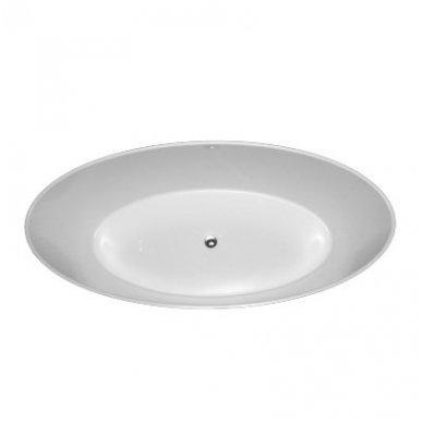 Laisvai pastatoma lieto marmuro vonia Omnires Marble+ Roma 159 CP 2