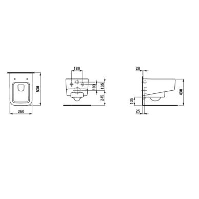 Laufen Pro S pakabinamas klozetas su rimless technologija ir dangčiu 3