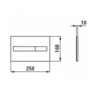 Laufen WC rėmo ir unitazo Pro Rimless komplektas 4