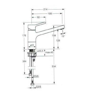 Maišytuvas plautuvei Hansa Form su ventiliu indaplovei 2