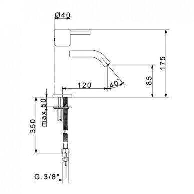 Praustuvo maišytuvas Flexdoccia Sektor chromas 2
